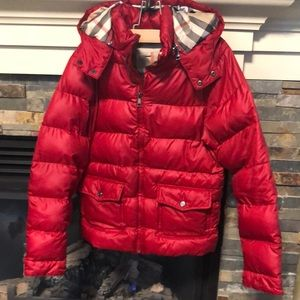 Burberry authentic girls winter puffer fits 10 years